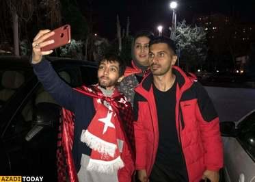 عکس یادگاری با امید عالیشاه از بازیکنان پرسپولیس